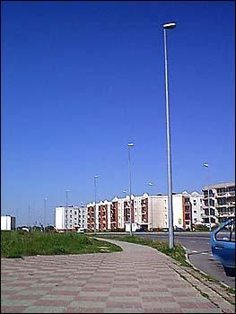 Oświetlenie ulicy Piłsudskiego wKoninie – strona południowa
