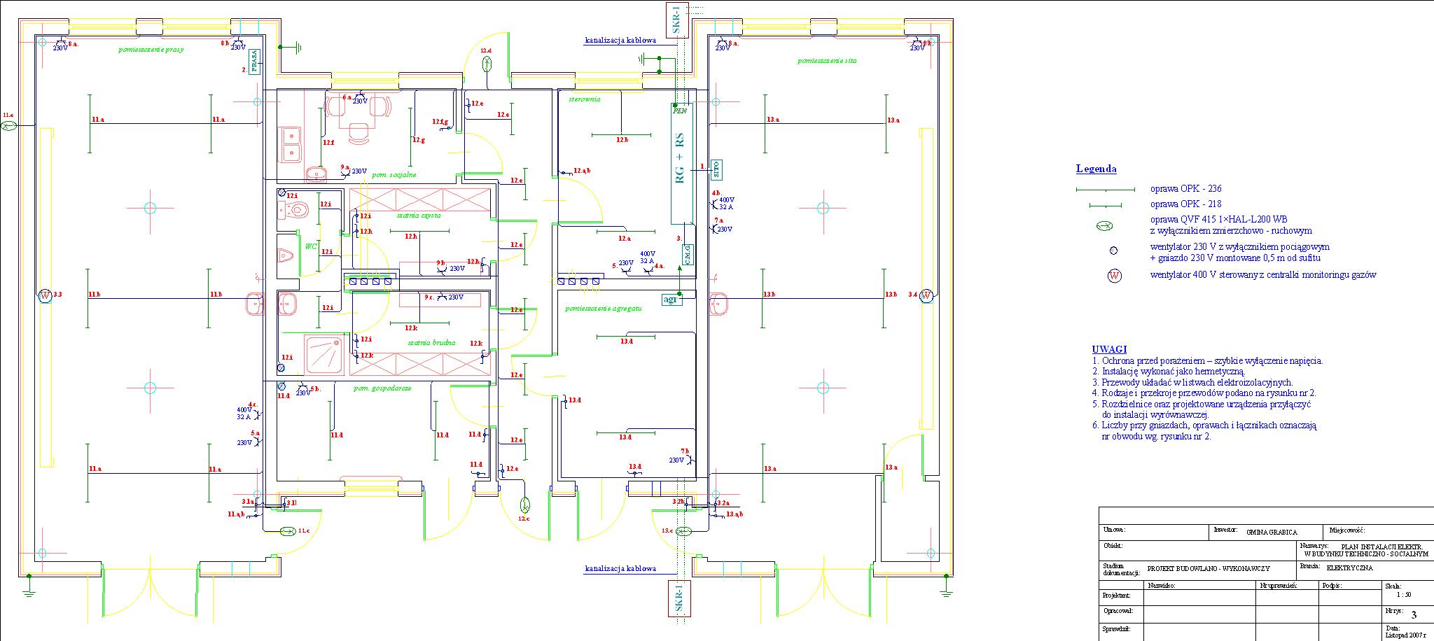 Schemat instalacji woczyszczalni ścieków