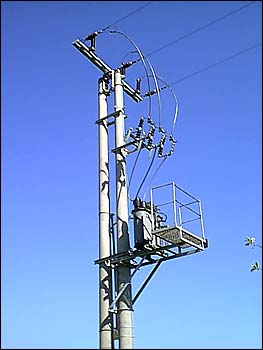 Stacja transformatorowa STSpb 20/250 zasilająca hydrofornię wm. Holendry Giewartowskie